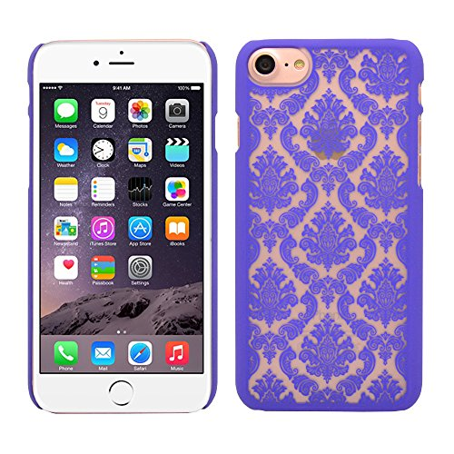 iProtect iPhone 7 Hard Case - edles orientalisches Design in Lila