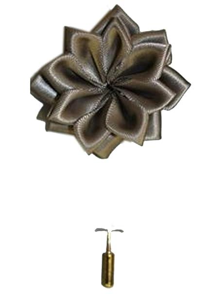 Amazon.com: Hombre Solid flor de loto Lapel Pin Boutonniere ...