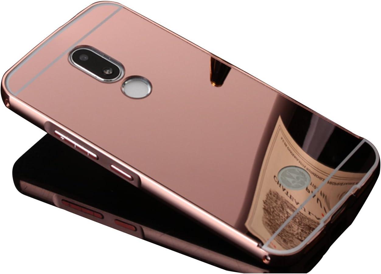 Mirror Case para Moto M Funda, Vandot Duro Híbrido Carcasa para Motorola Moto M Premium Bumper Case del Metal Aluminio + PC Ultrafina Espejo Protective Trasero Funda Cover: Amazon.es: Electrónica