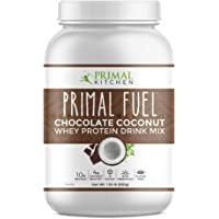 Primal Kitchen Primal Fuel Chocolate Coconut Whey Protein Powder- Updated Contains No Soy - 10g of Protein, 31.04 oz