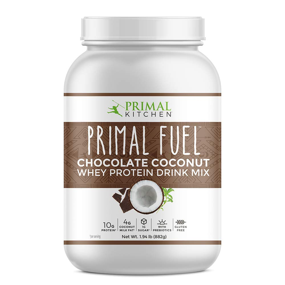 Primal Kitchen Primal Fuel Chocolate Coconut Whey Protein Powder- Updated Contains No Soy - 10 grams of Protein (1.85 lbs)