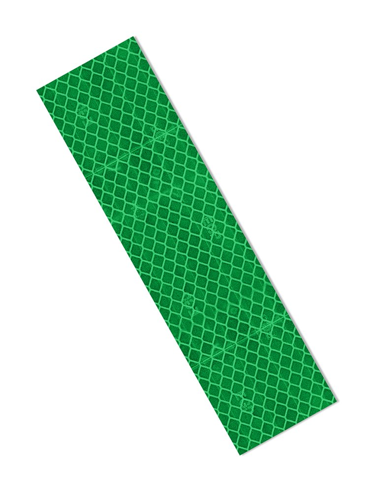 3M 3437 Green Micro Prismatic Sheeting Reflective Tape 2'' x 9'' (Pack of 25)