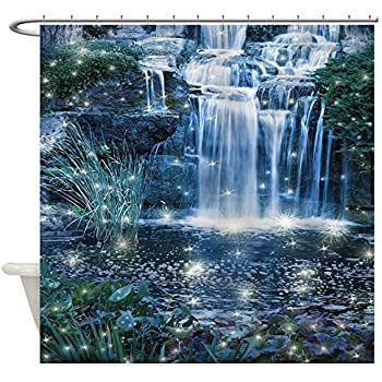 CafePress   Magic Waterfall Shower Curtain   Decorative Fabric Shower  Curtain