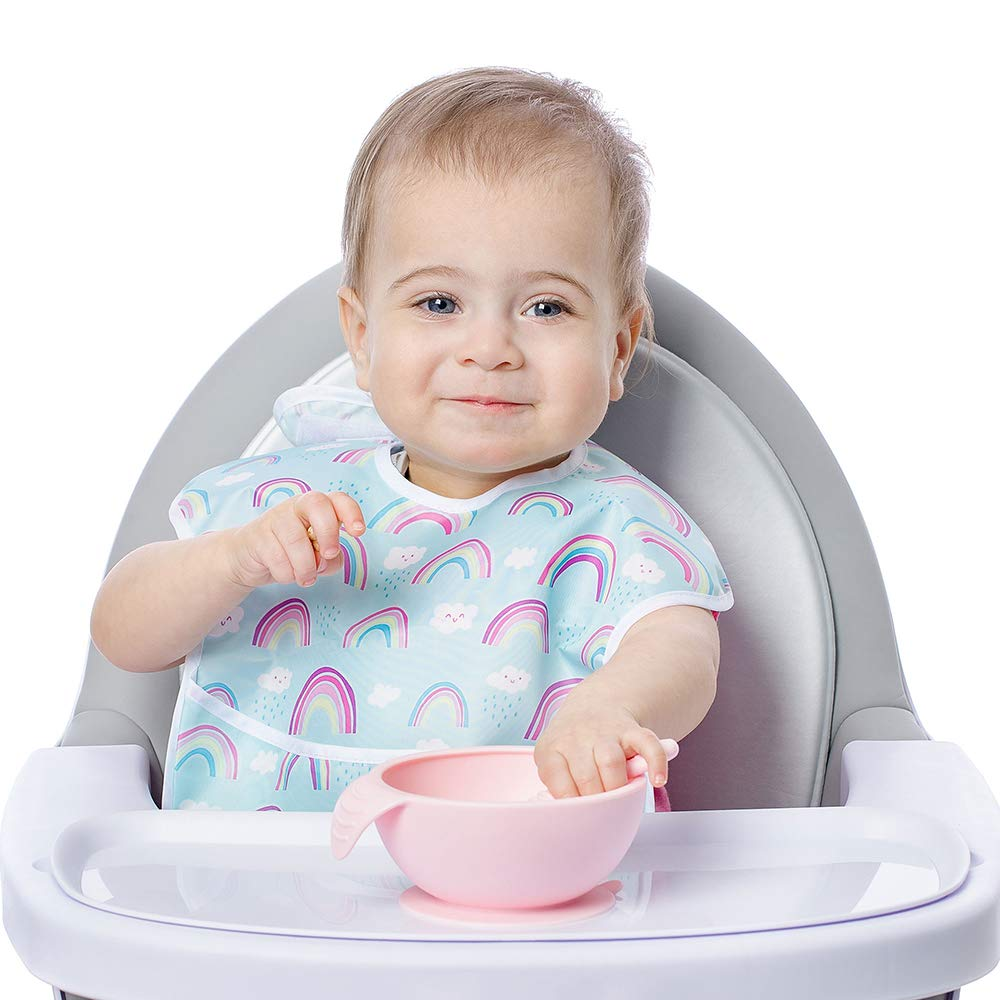 Rot Bumkins FFL-RED First Feeding Set with spoon and lid