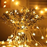 JIAMEIYI Star Fairy String Lights, 9.8ft 20 USB LEDs Warm White LED Twinkle Lights for Indoor and Outdoor Decoration Lighting, Party Wedding Celebration, Patio Wedding Bedroom Princess Castle
