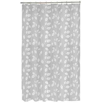 Amazon Maytex Mills 60090 Just Leaves Shower Curtain White