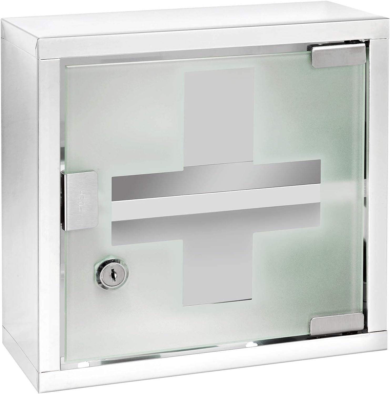 Amazon Com Wenko 22923100 Medicine Cupboard Square Silver Shiny