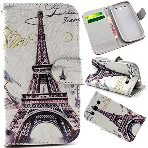 S3 Case, Galaxy S3 III i9300 Flip Case,Gift_Source [Stand Feature] Case Wallet [Wallet S] Premium Wallet Case Flip Cover for Samsung Galaxy S3 III i9300 -White Paris (Samsung Paris Case 3 S Galaxy)