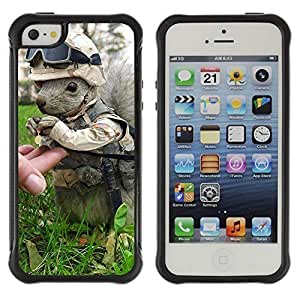 Hybrid Anti-Shock Defend Case for Apple iPhone 5 5S / Squirrel Soldier WANGJING JINDA