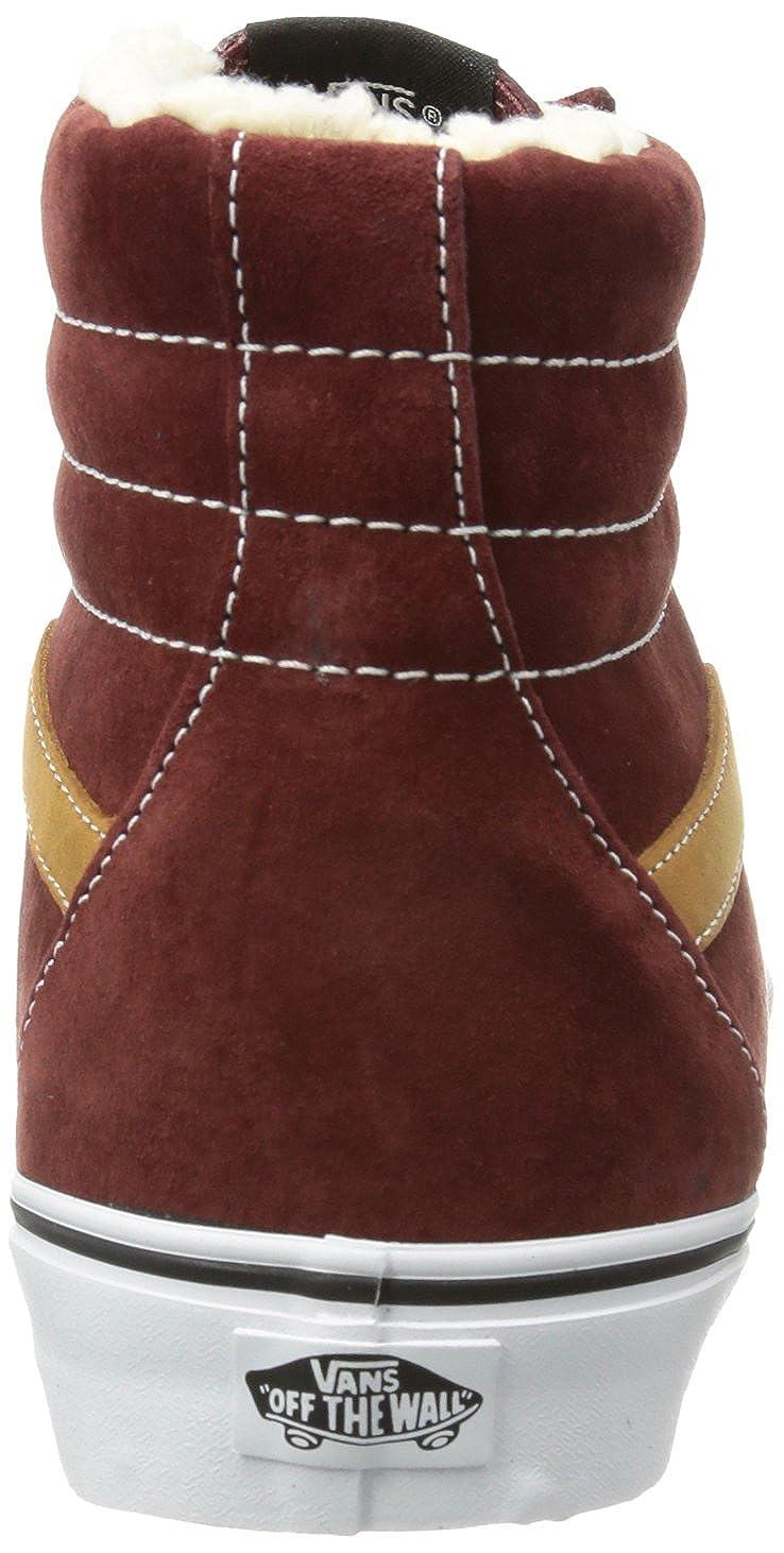 481b2625ee0074 Vans Unisex Sk8-Hi Reissue (Pig Suede Fleece) Andorra Skate Shoe 8 Men US    9.5 Women US  Amazon.ca  Shoes   Handbags