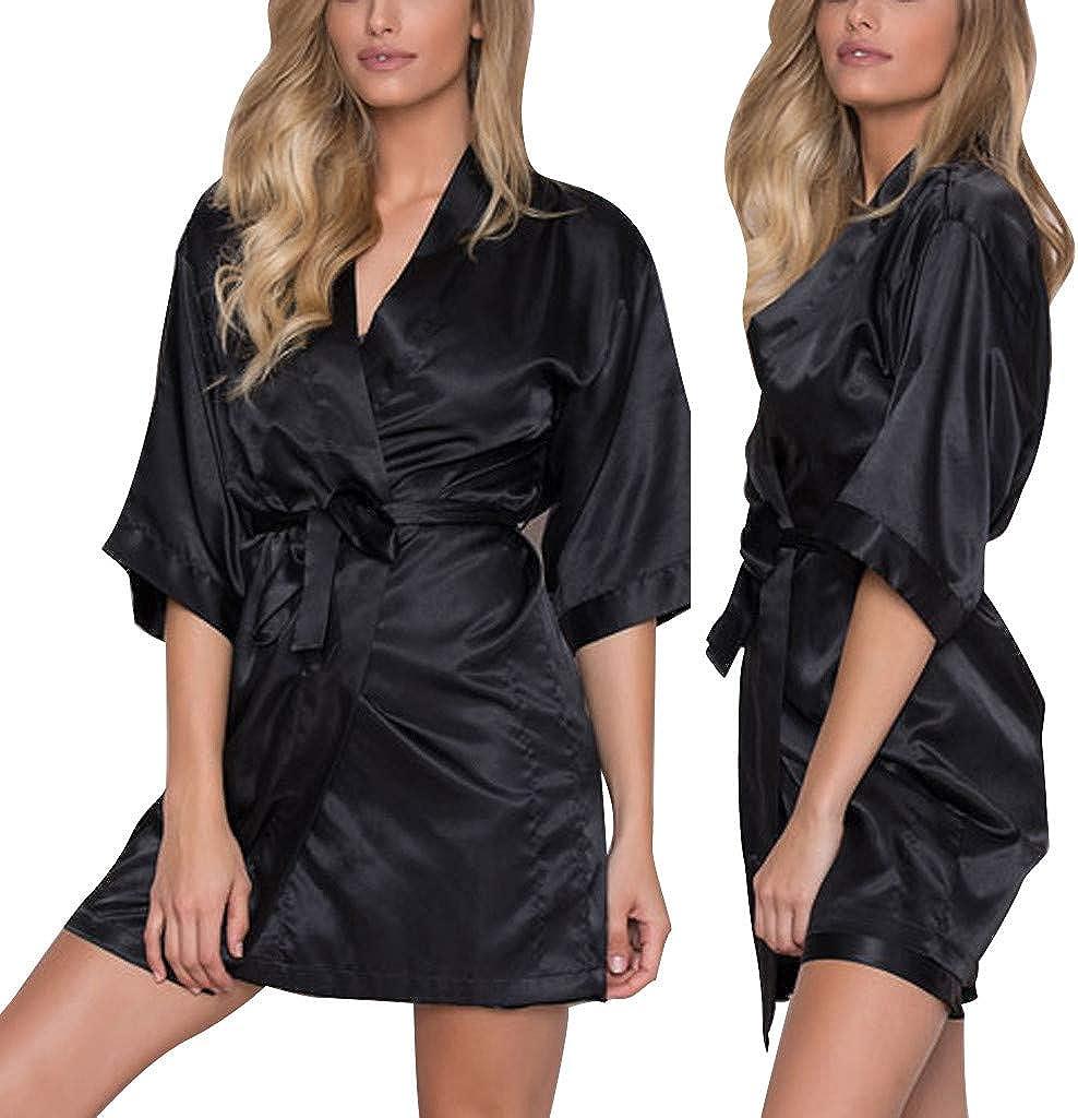 Bata kimono mujer elegante pijama camisas de noche para mujer albornoz ropa de noche vestido de noche ropa de noche ropa de noche ropa de noche ropa interior vestido de mujer sexy