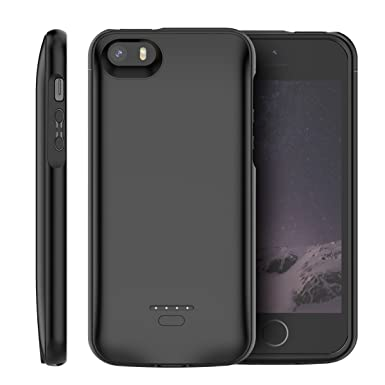 size 40 ac1ee 68684 BasicStock iPhone SE 5SE 5 5S Battery Case, 4000mAh Rechargeable Portable  Extended Battery Backup Charger Case External Juice Pack Power Bank ...