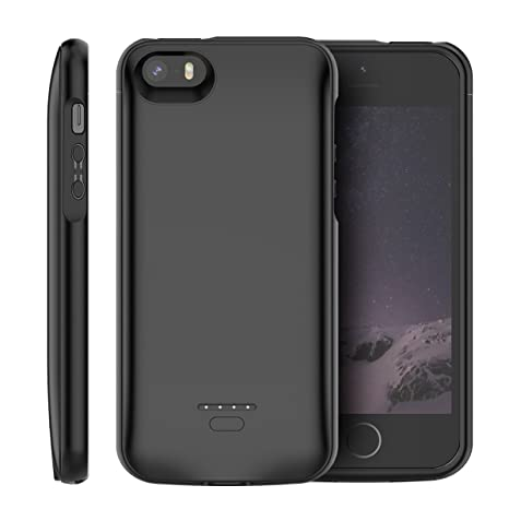 innovative design 11c44 a7b6e Compatible iPhone SE 5SE 5 5S Battery Case, LifeePro 4000mAh Rechargeable  External Portable Battery Extra Pack Ultra Slim Extended Power Bank Backup  ...