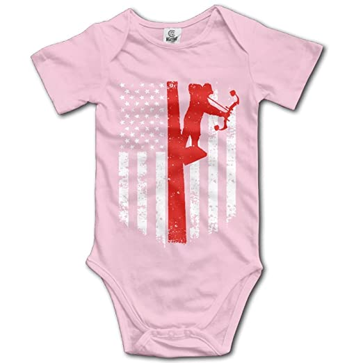 4ba6d6bd5738 Amazon.com  SOURCE POINT Bow Hunting American Flag Newborn Girl Boy Romper  Jumpsuit Bodysuit Baby Outfits Infant Clothes  Clothing