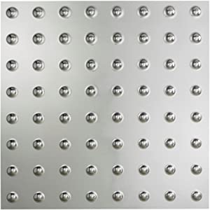 Fasade Easy Installation Dome Brushed Aluminum Lay In Ceiling Tile / Ceiling Panel (2' x 2' Tile)