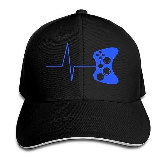Heartbeat Of A Gamer Unisex Adjustable Snapback Trucker Hats Plain