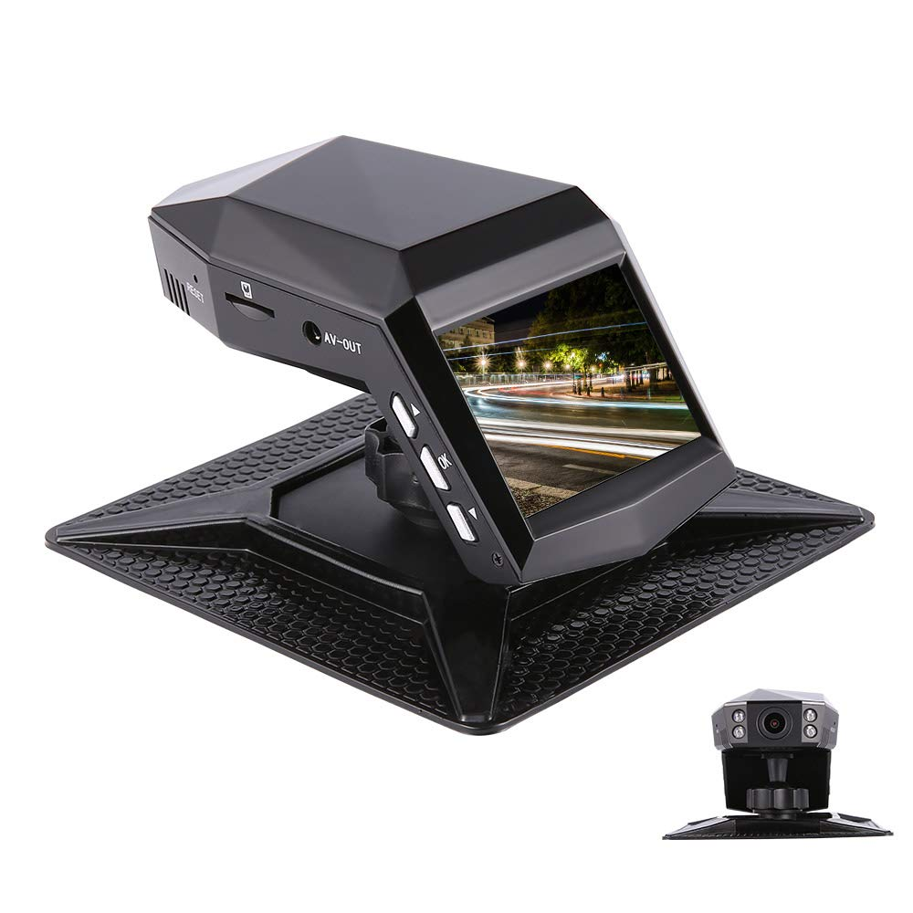 d/étection de mouvement Cam/éra de Voiture Sony Capteur Dash Cam 1080P Full HD 140 Grand Angle Tableau de bord 2 Affichage avec 4 lumi/ères infrarouges G-capteur enregistrement en boucle WDR Moniteur de stationnement
