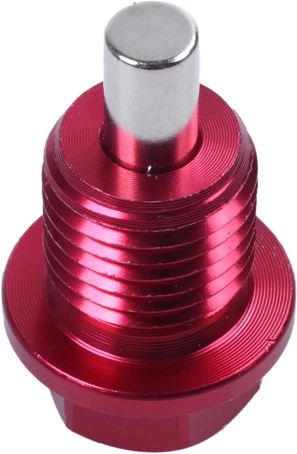 Moligh doll M14x1.5 Magnetic Oil Pan Drain Bolt Plug For //////Mitsubishi//Red