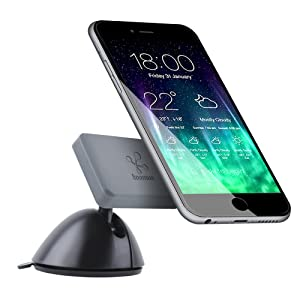 Koomus Pro Dashboard-M Universal Magnetic Cradle-less Smartphone Car Mount for all iPhone and Android Devices