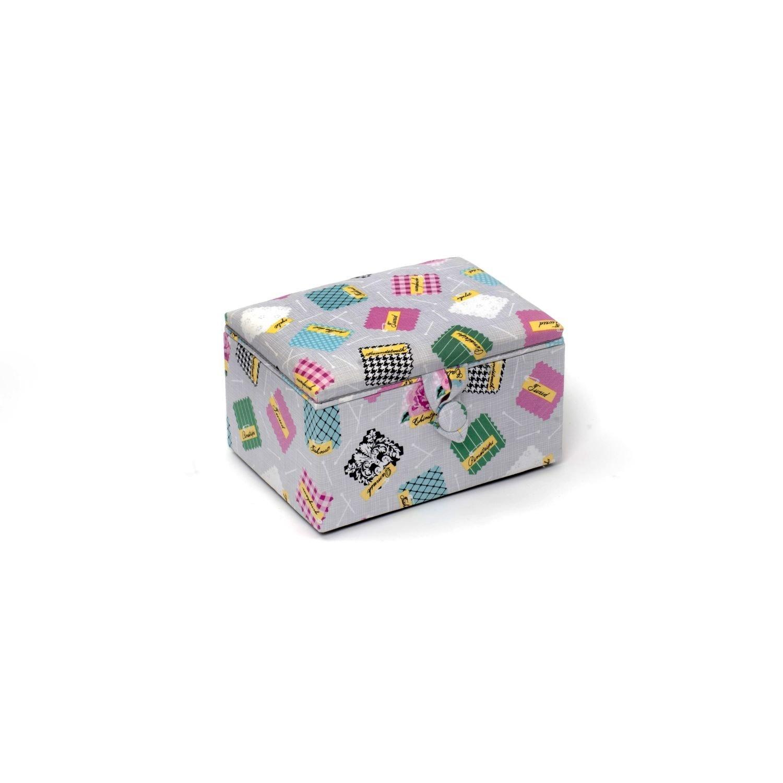 Hobby Gift moyenne à couture tabouret dans une configuration des détails de couleur gris clair (18 x 26 x 16 cm Groves