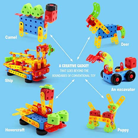 Best Gift for Kids 3-8 Years Old VATOS 316 PCS Stem Building Toys ...