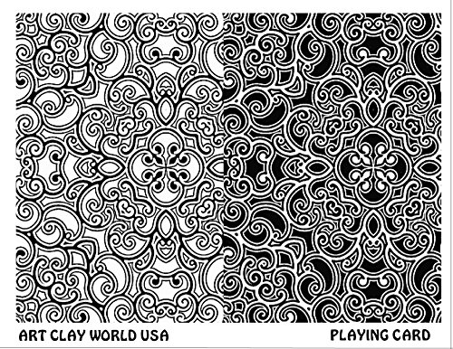 Art Clay World USA Low Relief Texture Playing Card - 1 Pc.