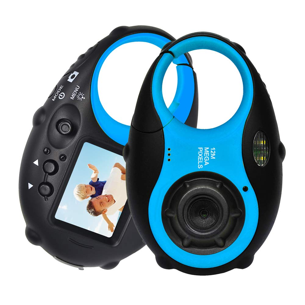 ISHARE Kids Camera Cute Camera 12MP 4× Digital Zoom Digital Camera with Video for Girls and Boys,Blue(Kids Camera with Photo Frame) by ISHARE (Image #1)
