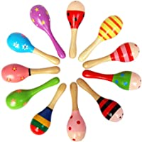 JUNGEN Toddler Rattle Hammers Sound Toys for Baby Wooden Rattle Random Colour 1-Pack (S-12CM)