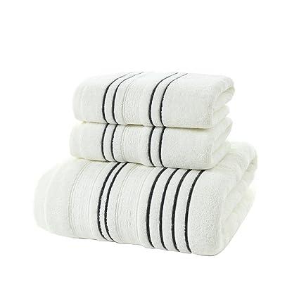 Super Soft Set de 3 piezas Toallas Carbón, 100% algodón Ringspun Lujo, pesado y absorbente ...