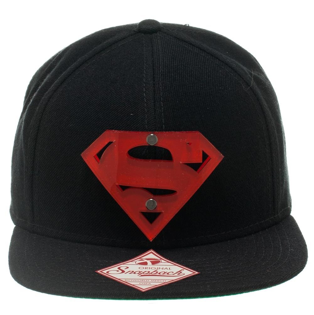 Bioworld DC Comics Superman Man of Steel Acrylic Logo Snapback ...