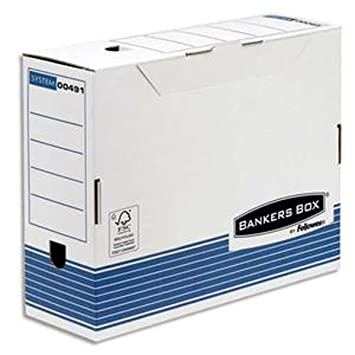 Lote de 10 cajas archivadoras (10 cm) System, montaje automático, cartón reciclado