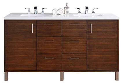 James Martin Furniture Double Vanity Sink With 3 Cm Snow White