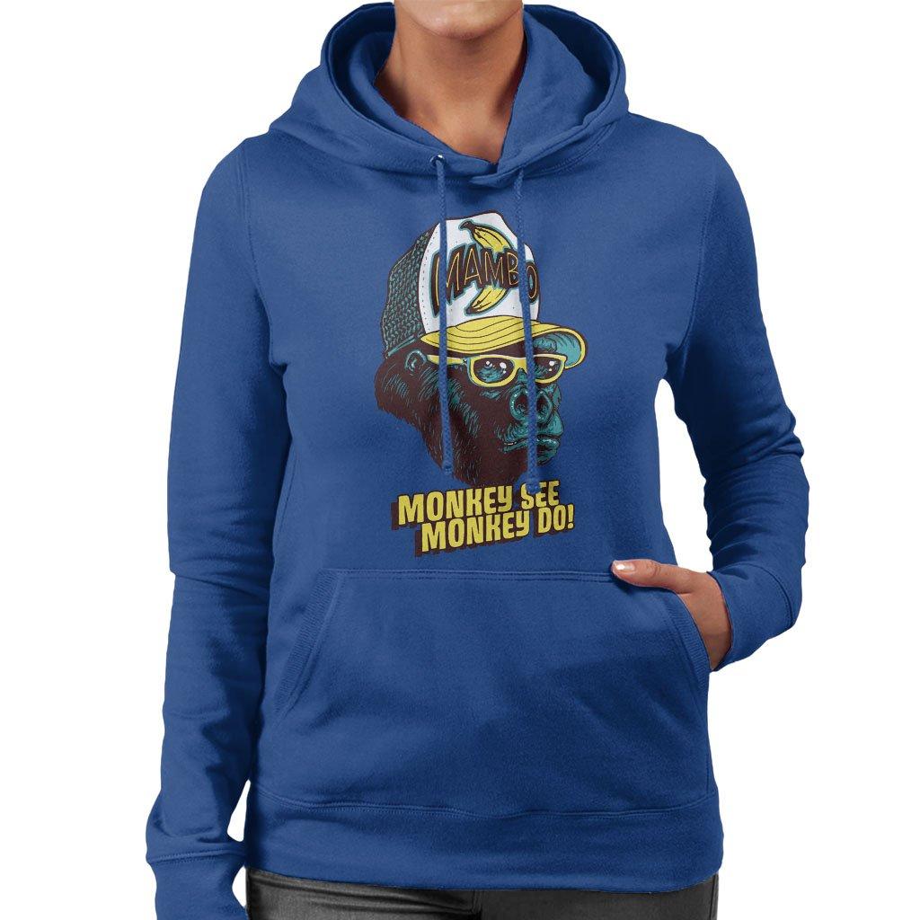 0c94ab52e Mambo Monkey See Monkey Do Women s Hooded Sweatshirt  Amazon.co.uk ...