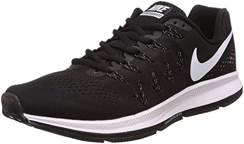 3b03db5fb981 Nike Men s Air Zoom Pegasus 33 Running Shoes - 6 UK Black White  Buy ...