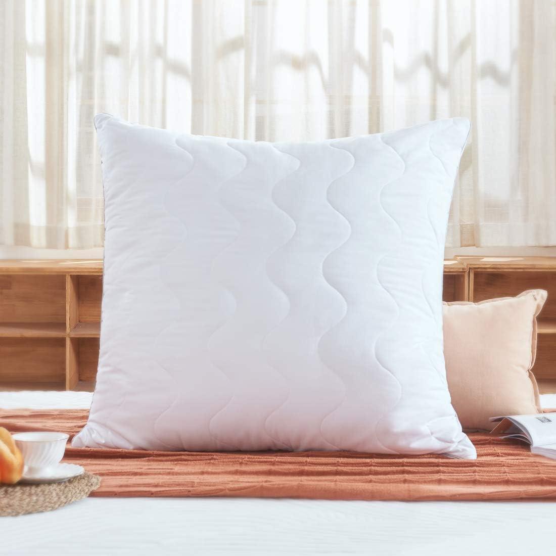 Sweetnight Kopfkissen 80x80 allergiker Kissen nackenstützt 1100g Polyesterholfaser Kissen Füllungen einstellbar mit Reißverschluss Veganes Weiß