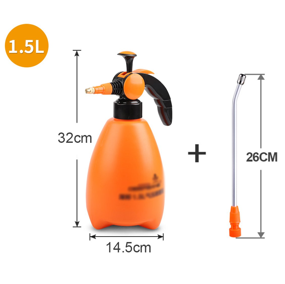 Testine per irrigazione Wddwarmhome Ugello di rame della bottiglia dello spruzzo della famiglia dell'annaffiatoio di giardinaggio di plastica arancio dell'annaffiatoio (colore   B 1.5L)