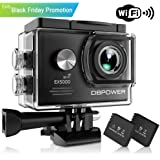 DBPOWER EX5000 Action Camera , 14MP 1080P HD WiFi Waterproof Sports Cam 2 Inch LCD Screen , 170 Degree Wide Angle Lens , 98ft Underwater DV Camcorder With 16 Accessories Kits (A-Action camera)