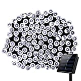 Outdoor Solar String Lights,8 Modes WONFAST Waterproof 72ft 200led Solar Christmas Fairy Lights Ambiance Lighting for Camping, Garden, Patio, Backyard, Fence and Holiday Decorations (White)
