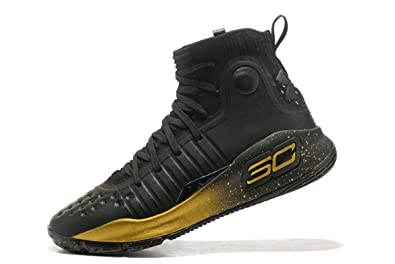 83fbed6cb8c BSTBLL Curry 4 Black Gold Mens Basketball Shoes  Amazon.co.uk  Shoes ...