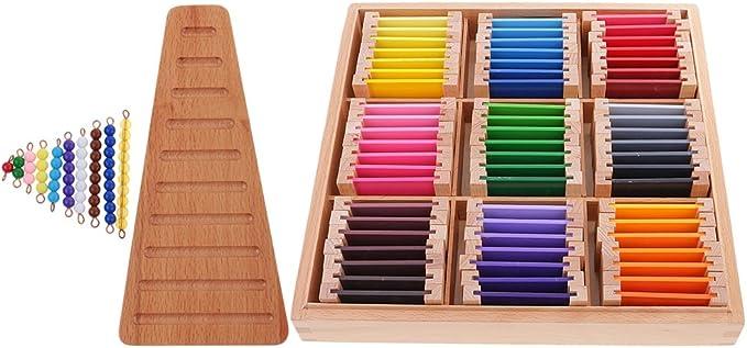 Fenteer Material Educativo Ppreescolar de Montessori Caja de Color de Juguete de Madera Niños: Amazon.es: Juguetes y juegos