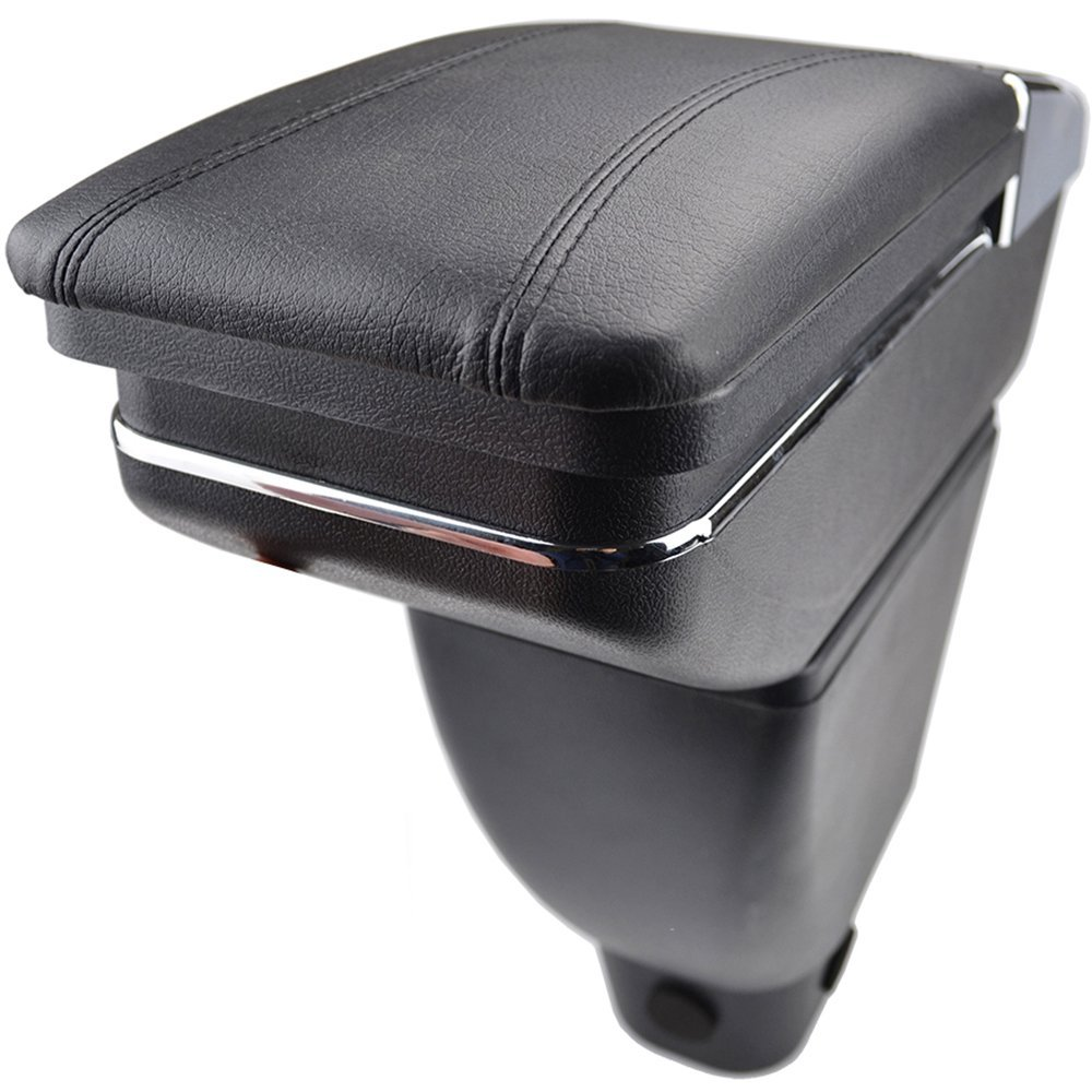 XUKEY Arm Rest For Toyota bB Scion xB Car Rotatable Center Console Storage Box Armrest Black Leather