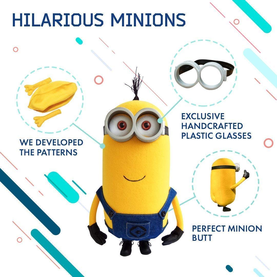 Amazon.com: Kevin The Minion. High detail handmade plush toy.: Handmade