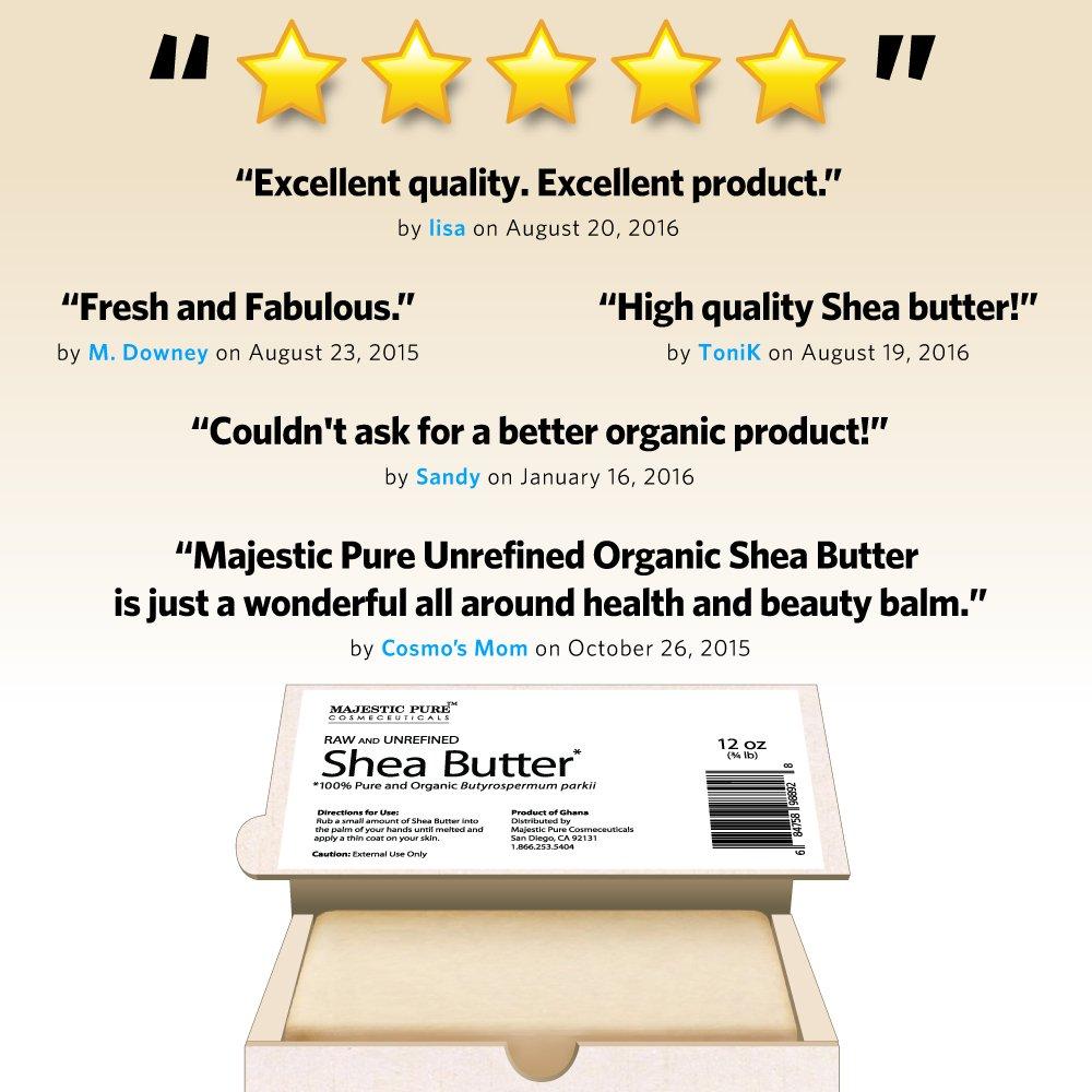 Majestic Pure Grade A Unrefined Organic Shea Butter, 12 oz by Majestic Pure (Image #4)
