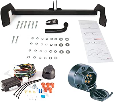 tow tow 7-pin wiring kit for mercedes benz vito, v639 ii/viano (w639) 2003  box/bus trailer hitch mount – fixed towing hitch with screwed-on spherical  head: amazon.de: auto  amazon.de