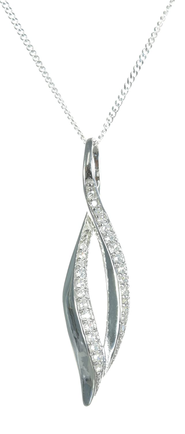 34mm8mm Classical 925 Sterling Silver Women Pendant Chain with Cubic Zirconia//CZ