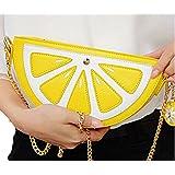 Buenocn Women Clutch Shoulder Bag Party Day Chain Orange Style Evening Bag Ls5709