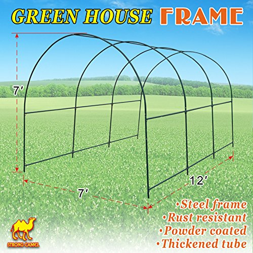 Strong Camel New Hot Green House 12X7X7 Greenhouse Spare Parts Frame (Cover NOT Included)