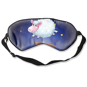 Amazon com : White Sheep Jumping Over Fence At Night Sleeping Eye
