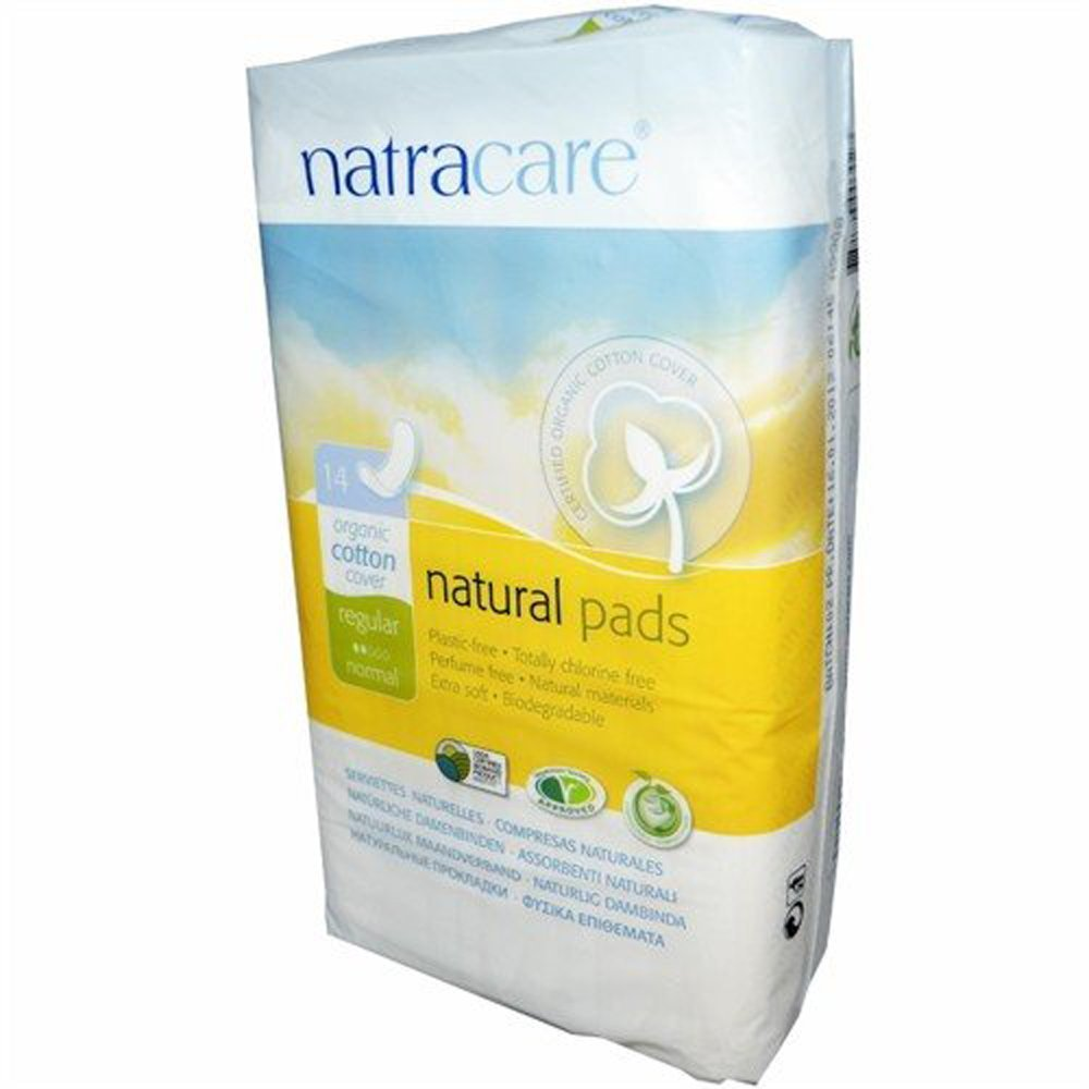 Natracare Pads Regular 14 ct, 6 Pack (84 Pads Total)