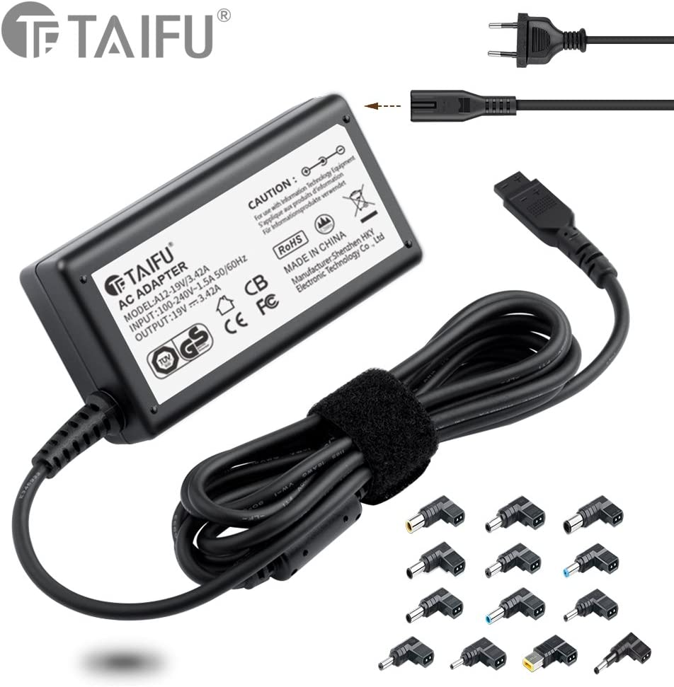 TAIFU65W portátiles y netbooks cargador delgado de voltaje automático selección universal / adaptador de CA / fuente de alimentación con el 13 puerto para Acer, Asus, HP, Compaq, Dell, IBM / Lenovo, T